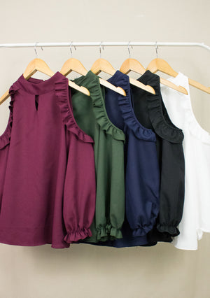 'ZENITH' COLD SHOULDER TOP (5COLOURS)