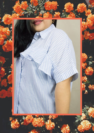 'Lora' Collared Blouse