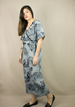 'NARA' GREY LONG JUMPSUIT