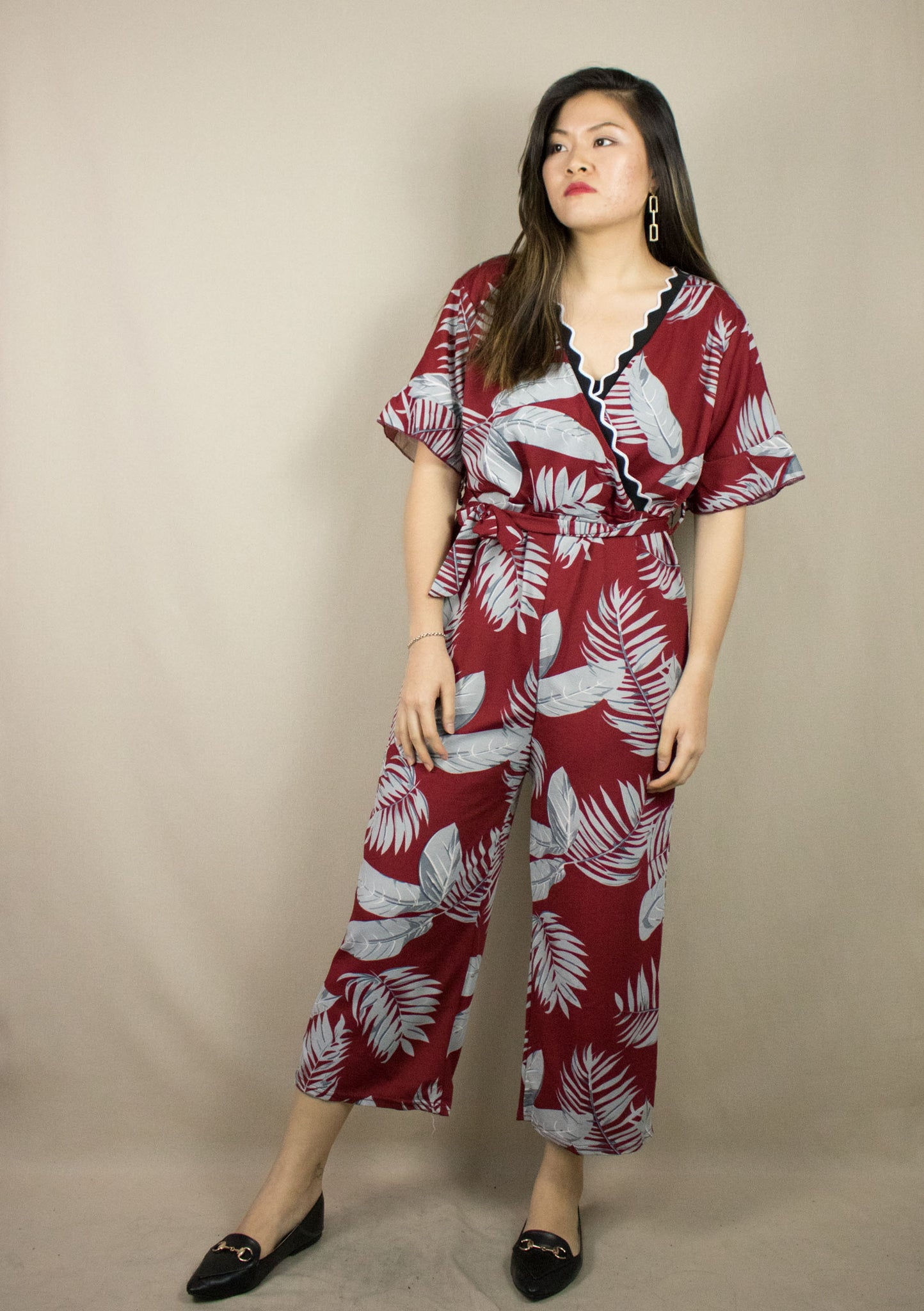 'NARA' RED LONG JUMPSUIT