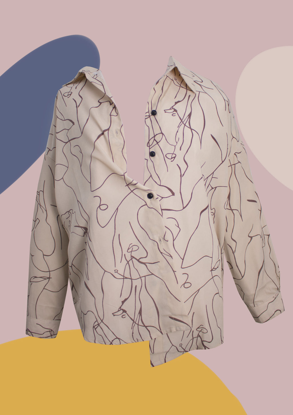 ' Avery ' Abstract Shirt (BEIGE)
