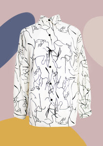 ' Avery ' Abstract Shirt (3 colours)