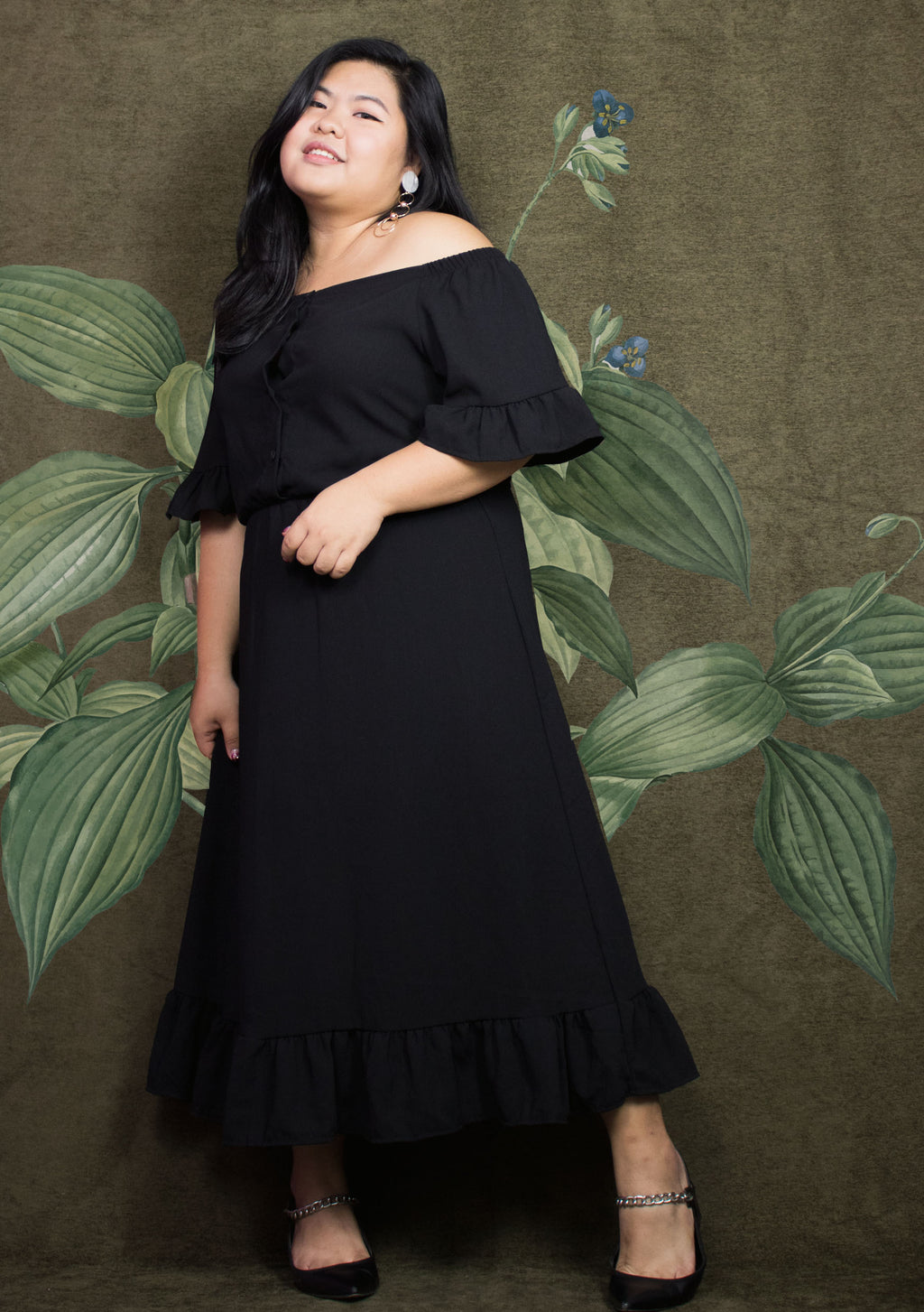 ' Vianne ' Ruffle Off Shoulder Dress
