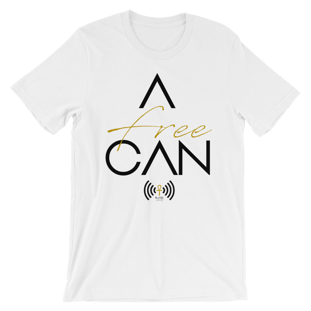 A-FREE-CAN Tee (Black Letters)