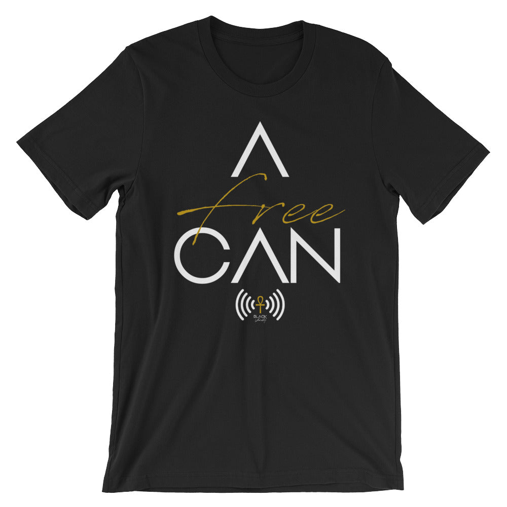 A-FREE-CAN Tee with White Letters
