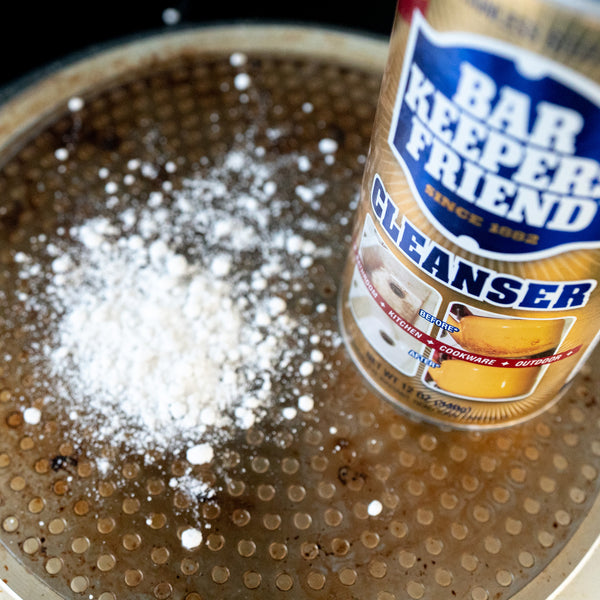 How to clean BURNT Pots, Pans and Ovens with Bar Keepers Friend.