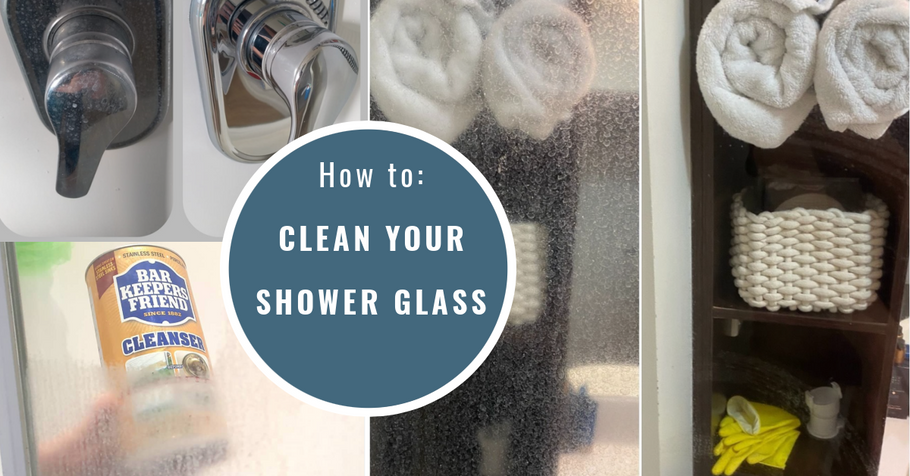 How to: Clean your shower glass with Bar Keepers Friend