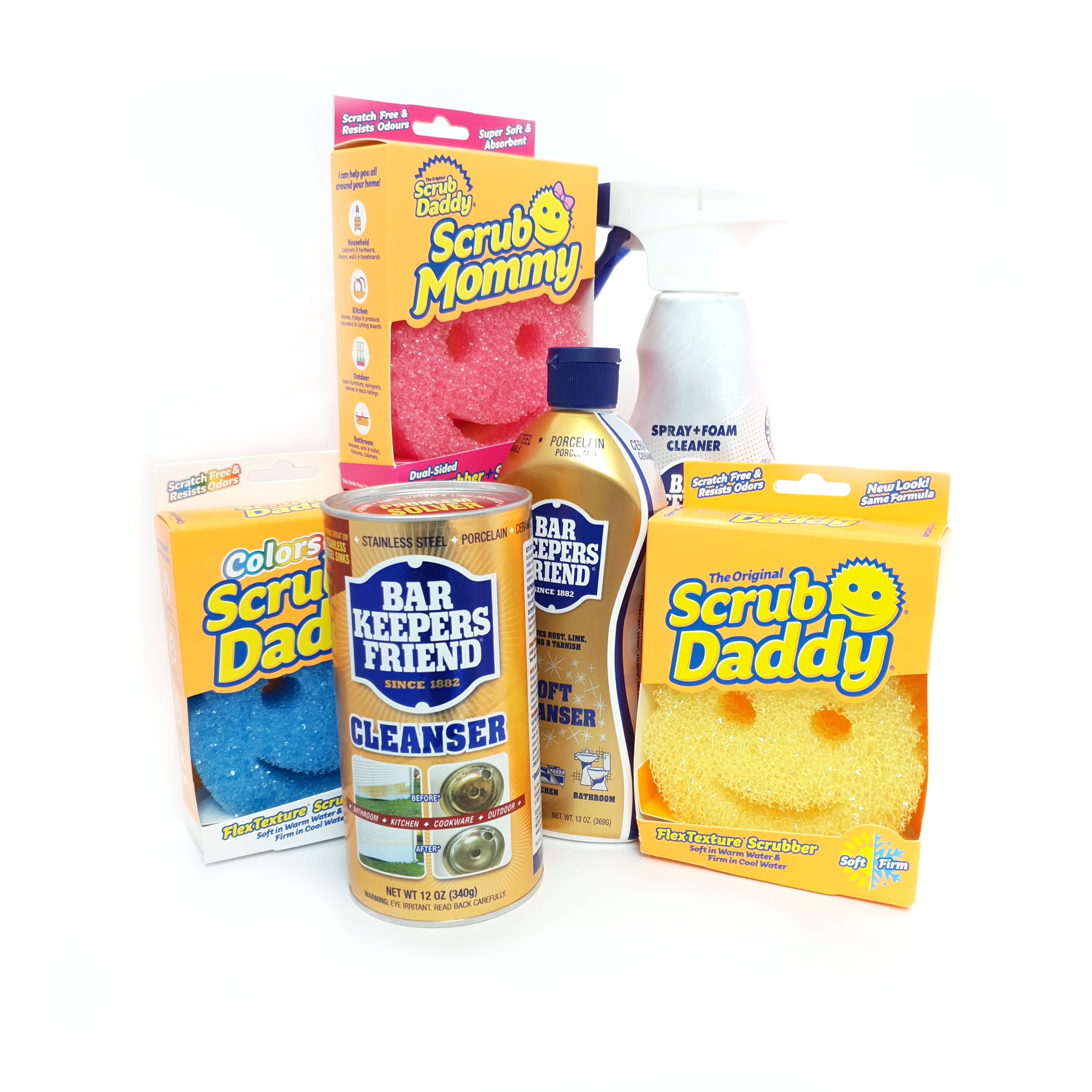 Double Trio - Bar Keepers Friend x Scrub Daddy