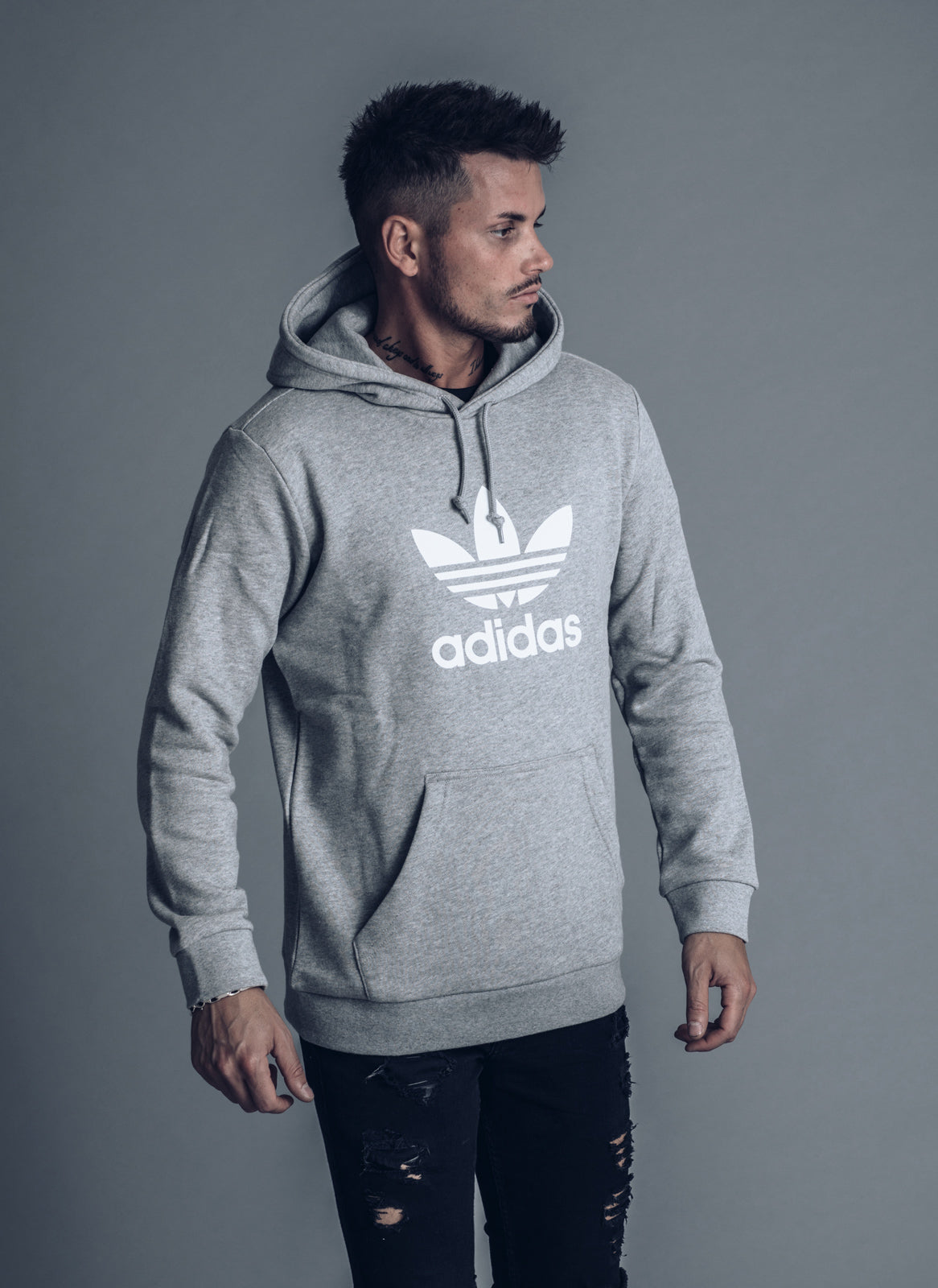 cheap sale official shop coupon codes Trefoil Hoodie Grey - Adidas – Topdepartment