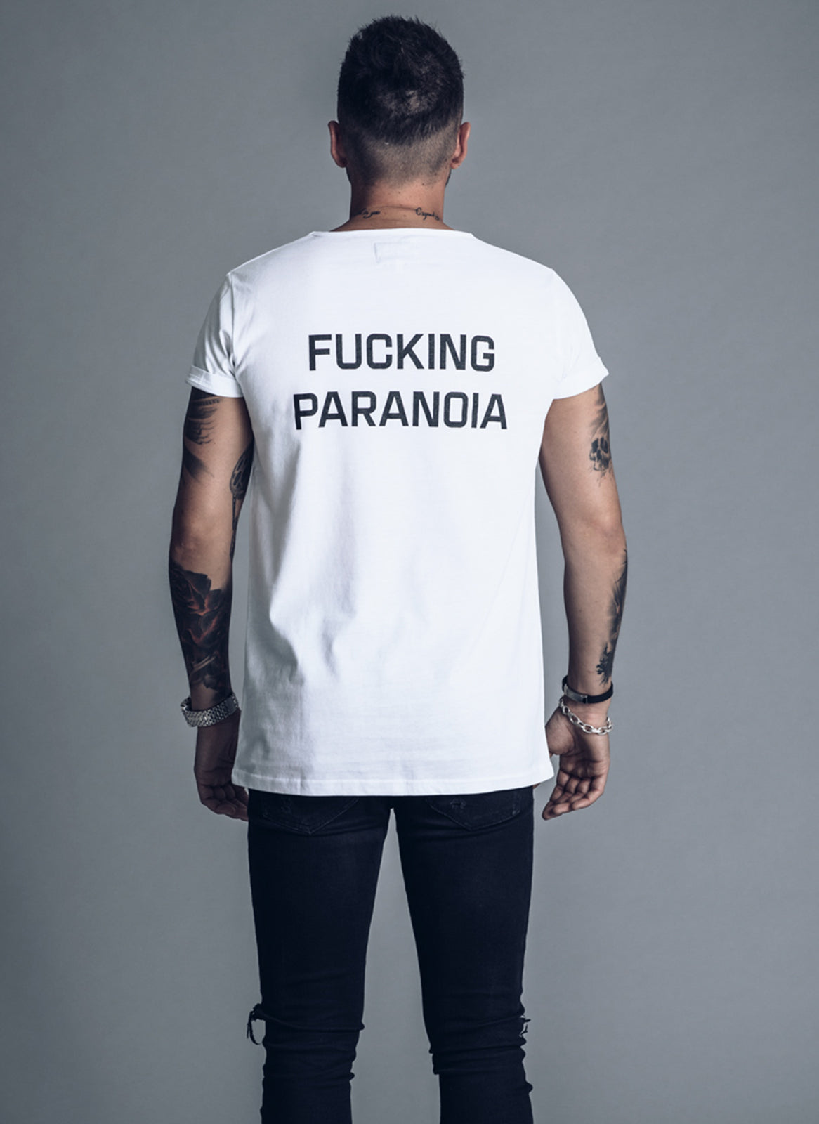Fucking Paranoia - White t-shirt - We love techno