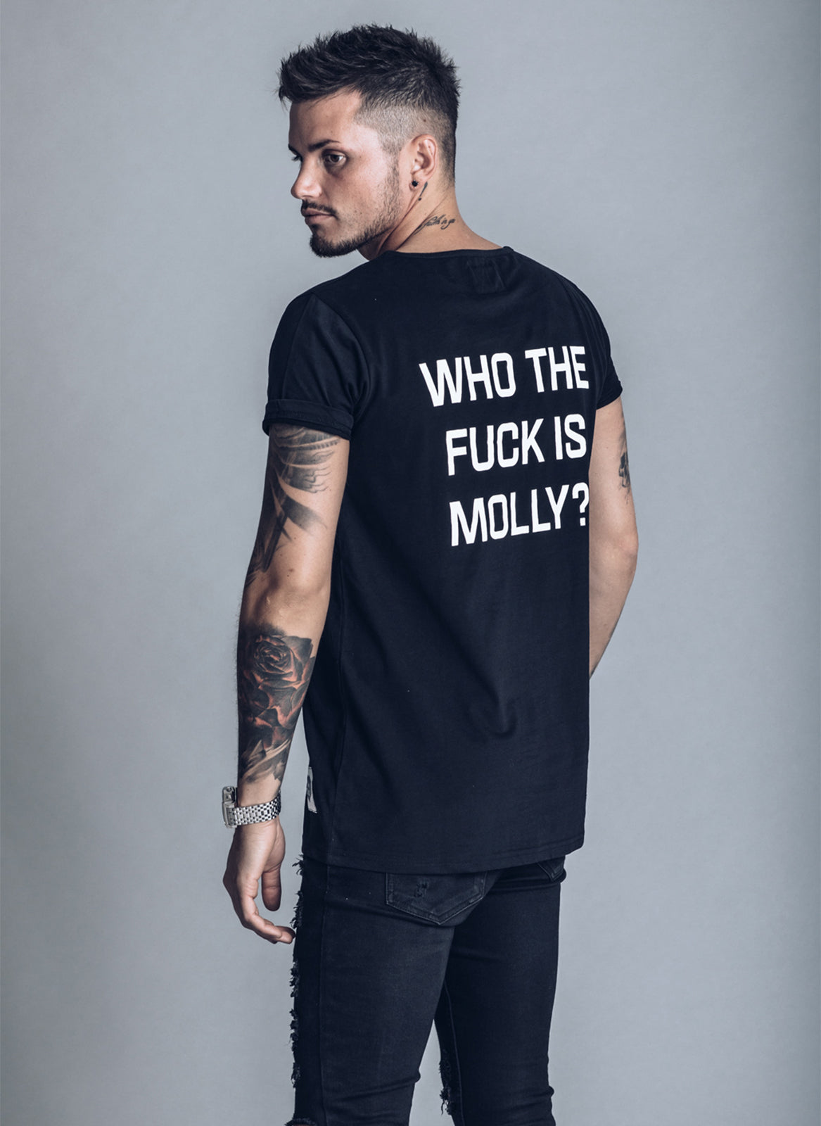 Who The F*ck is Molly - Black T-shirt - We Love Techno