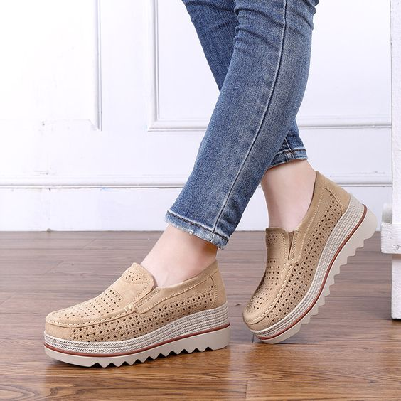 2019 Summer Trendy Hollow Out Platform Shoes