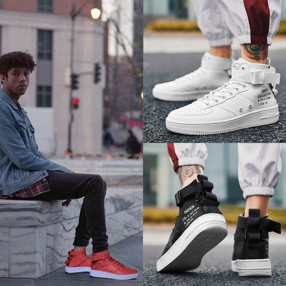 Men's Canvas Hip Hop High-top Shoes