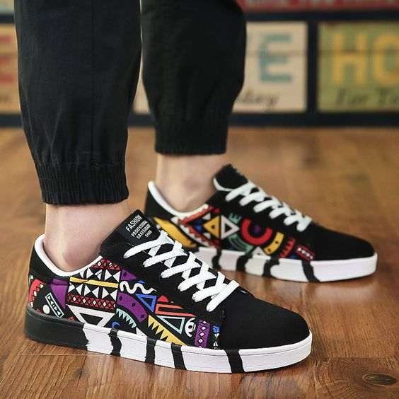 Trendy Colorful Canvas Shoes