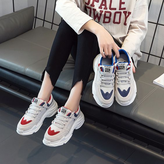 Chic Style Design Sneaker Shoes - Abershoes