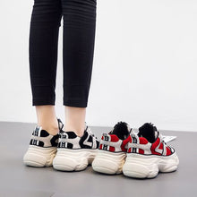 Load image into Gallery viewer, Chic Color Block Platform Sneakers - Abershoes