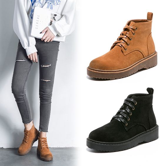 British College Trend Flat Booties - Abershoes