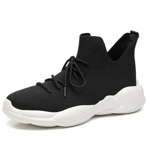 2019 Summer Trendy High Top FlyKnit Sneaker Shoes for Men - Abershoes
