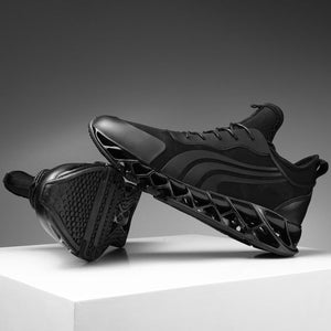 Trendy Design Black Blade Sneaker Shoes - Abershoes