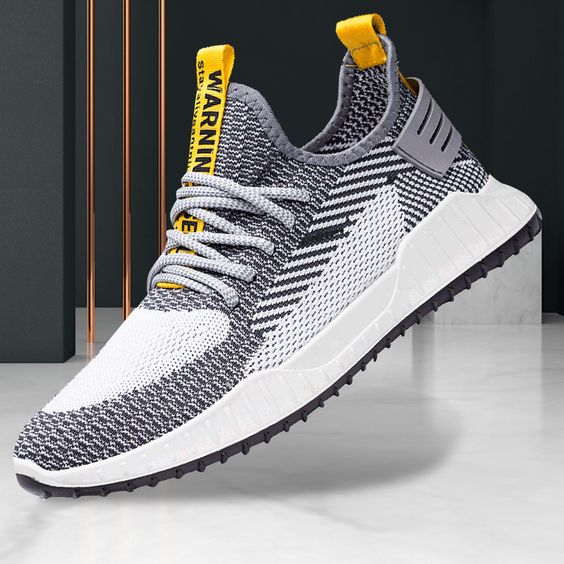 Men's Trendy FlyKnit Breathable Sneaker Shoes - Abershoes