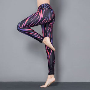 Stylish Yoga Floral Printed Leggings - Abershoes
