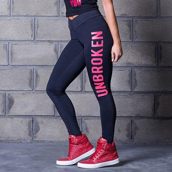 Leather Printed Sports Gym Leggings - Abershoes