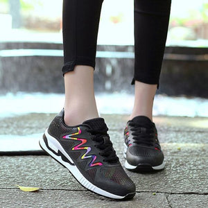 Chic Summer Colorful Breathable Sneakers - Abershoes