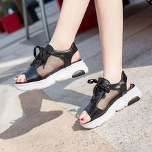 Load image into Gallery viewer, Trendy Summer Fish Mouth Sport Sandals - Abershoes