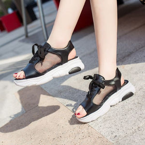 2019 Trendy Summer Fish Mouth Sport Sandals - Abershoes