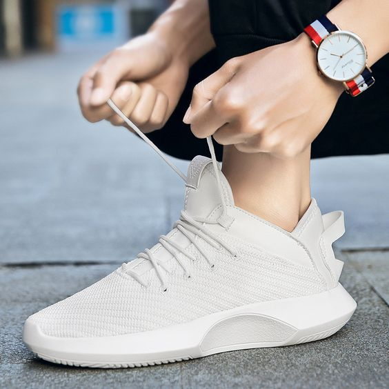 Men's High Top Breathable Sneaker Shoes - Abershoes