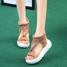 Load image into Gallery viewer, Pure Color Knitting Wool Sandal Shoes - Abershoes