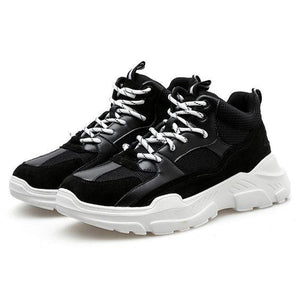 MID Trendy Color Block Sneaker Shoes - Abershoes