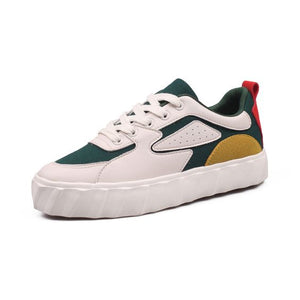 Trendy Color Block Canvas Shoes - Abershoes