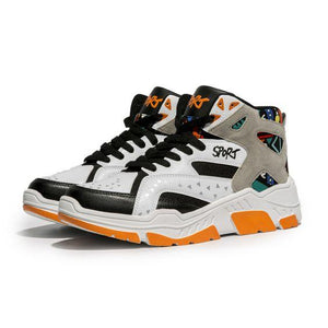 Color Block High Top Sneaker Shoes - Abershoes
