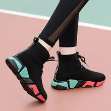 Load image into Gallery viewer, Color Block High Top Casual Sneaker Shoes