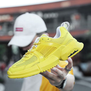 Trendy Pure Color Mesh Breathable Sneaker Shoes - Abershoes