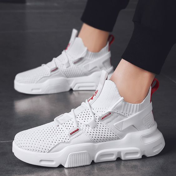 Men's Trendy FlyKnit Mesh Breathable Sneaker Shoes - Abershoes