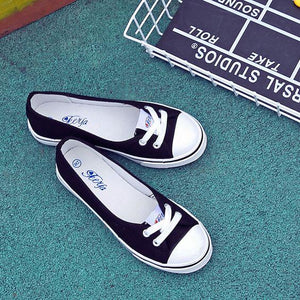 Shallow Canvas Shoes - Abershoes