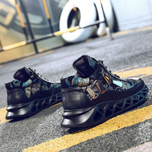 Load image into Gallery viewer, Men's Floral Print Color Block Sneaker Shoes - Abershoes