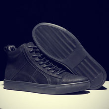 Load image into Gallery viewer, British Trend High Top Leather Shoes - Abershoes