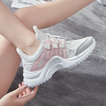 Load image into Gallery viewer, Women's Plus Size 43 Color Block Sneaker Shoes