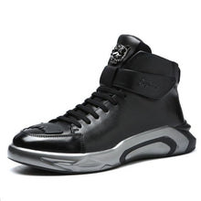 Load image into Gallery viewer, High Top Trendy Black Martin Boots