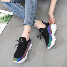 Load image into Gallery viewer, Women's Trendy Comfortable FlyKnit Dad Sneaker Shoes - Abershoes