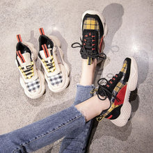 Load image into Gallery viewer, Hot Trend Color Block Grid Sneaker Shoes - Abershoes