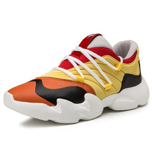Men's Trendy Clunky Dad Sneaker Shoes - Abershoes