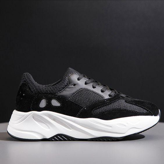 Trendy Retro Color Block Mesh Dad Sneaker Shoes - Abershoes