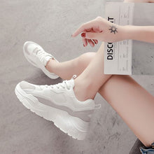 Load image into Gallery viewer, Women's Color Block Mesh Breathable Sneaker Shoes - Abershoes