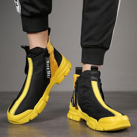 Men's Trendy High Top Hip Hop Style Shoes - Abershoes
