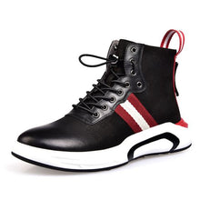 Load image into Gallery viewer, High Top Leather Sneaker Shoes - Abershoes