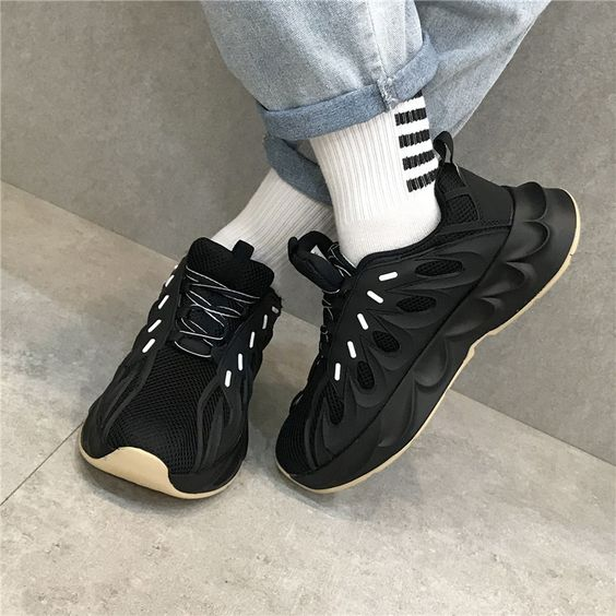 Couples Pure Color Retro Dad Sneaker Shoes -  Unisex - Abershoes